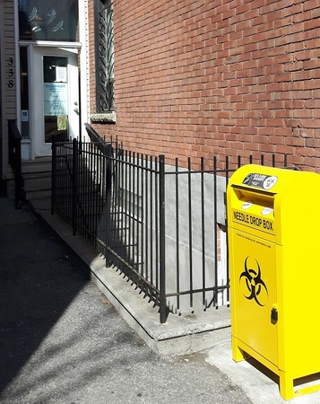 Outdoor sharps disposal container - Street Health